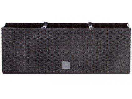 Plastové samozavlažovacie truhlíky Rato Case hnedý 60 x 25 cm