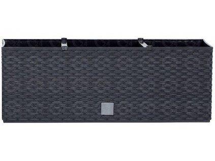 Plastové samozavlažovacie truhlíky Rato Case antracit 80 x 33 cm