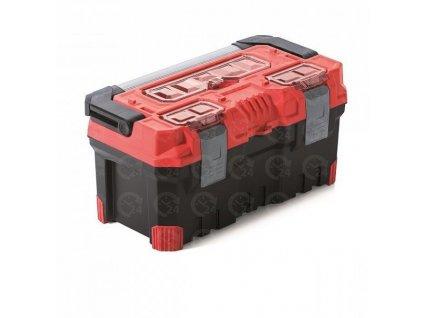 Kufor na náradie TITAN Plus červený plastový box na náradie 554 x 286 x 276 mm