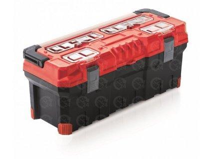 Kufor na náradie TITAN Plus červený plastový box na náradie 752 x 300 x 304 mm
