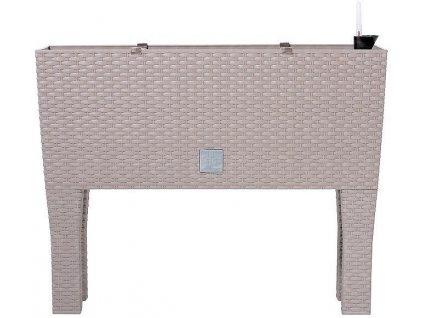 Plastové samozavlažovacie truhlíky Rato Case High mocca 60 x 25 m