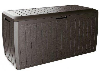 Záhradný box na polstre Board umbra hnedá 290 l