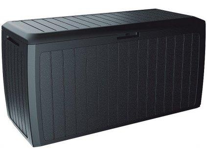 Záhradný box na polstre Board antracit 290 l