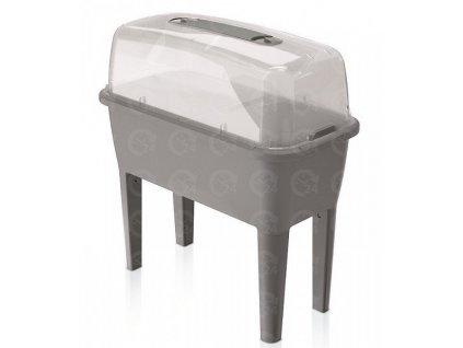 Plastové parenisko sadbovač Respana Planter šedý kameň 77 x 37,8 cm