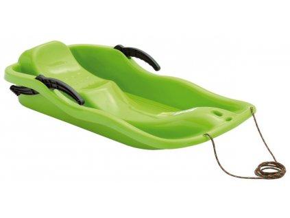 Detské sánky Boby RACE zelené sane plastové