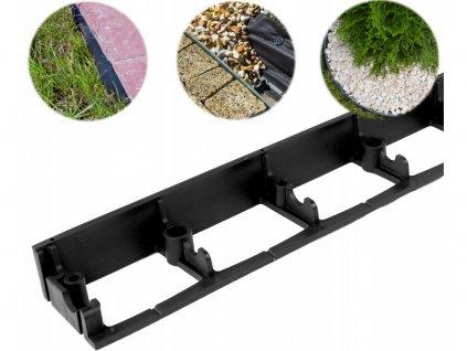 Neviditeľný obrubník plastový SB 80 (1m) čierny