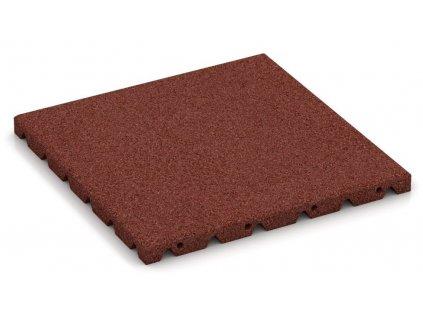 Gumová dlažba červená 50 x 50 x 2,5 cm dlaždica