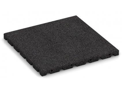Gumová dlažba 50 x 50 x 2,5 cm čierna dlaždica
