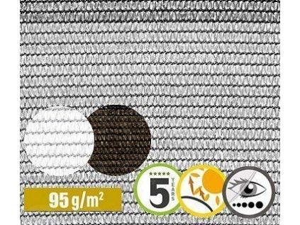 Tieniaca tkanina na plot 84% sieťka 1 x 5 m siva