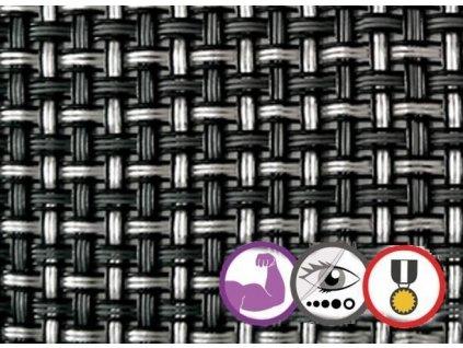 Tieniaca tkanina na plot 90% 1,5 x 5 m VIP antracit (700 g/m2)