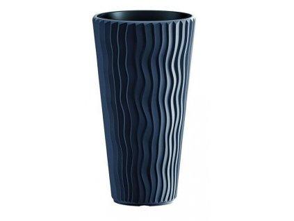 Kvetináče plastové Sandy Slim antracit Ø 29,7 cm