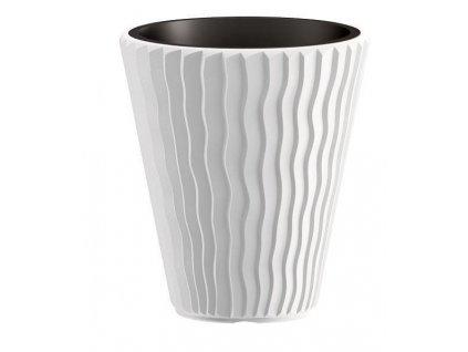 Plastové kvetináče Sandy biely Ø 29,7 cm