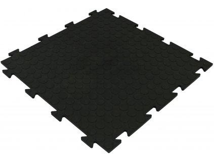 Dlažba PVC čierna 50 x 50 x 0,8 cm podlahová krytina Bubbles