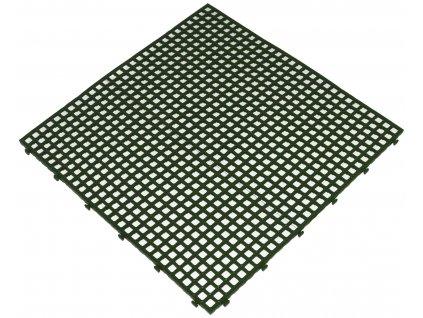 Plastová rohož zelená 40 x 40 x 0,8 cm dlažba Flextile VÝPREDAJ