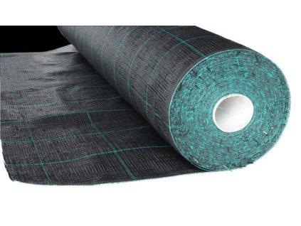 Čierna fólie s pruhmi tkaná 1,05 x 50 m tkanina 90g / m2