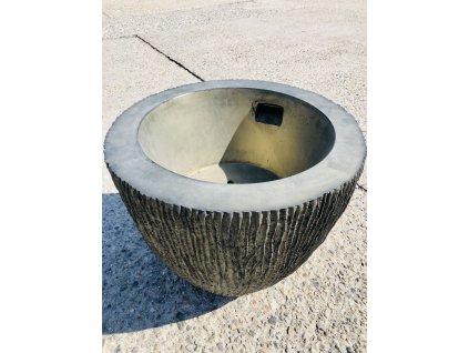 Dekoratívne kvetináč imitácia dreva SAMBA M Ø 62 cm
