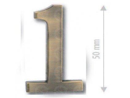 Číslice na dvere - Bronz česaný
