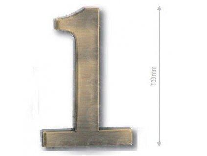 Čísla na dvere - Bronz česaný