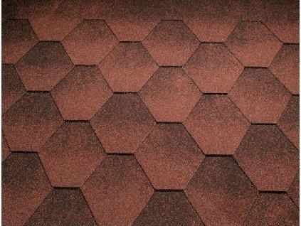 Strešný asfaltový šindeľ JAZZY červená KATEPAL