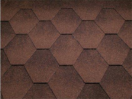 Strešný asfaltové šindeľ JAZZY hnedá KATEPAL