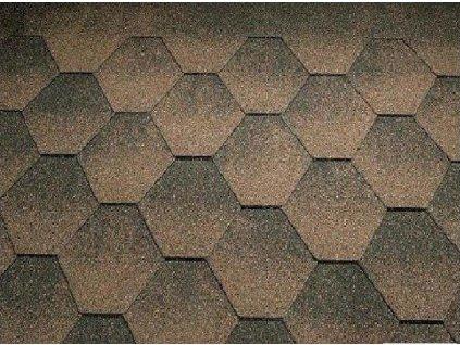 Strešný asfaltový šindeľ JAZZY medená hnedá KATEPAL