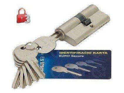 Bezpečnostné vložka cylindrická B3 EURO Secure 30/35 nikel matný