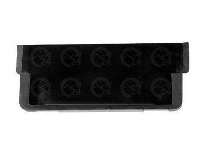 Koncovka žľabu záslepka pre odvodňovací žľab 125 x 50 x 4 mm