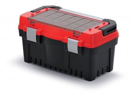 kufr na naradi s kov drzadlem a zamky evo cerveny 476x260x256 krabicky