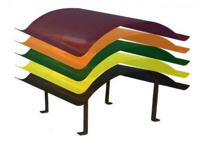 KOMÍNOVÁ STRIEŠKA pozinkovaná + farba RAL 1000 x 700 mm