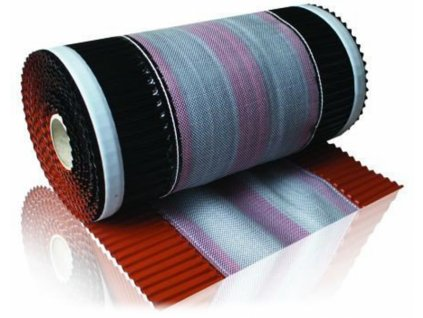 Vetrací pás hrebeňa a nárožia samolepiaci 310 x 5000 mm čierna VENTI ROLL