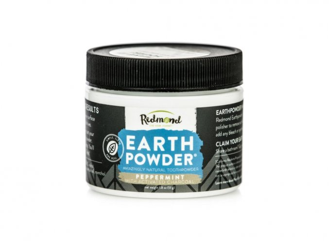 524 5 earthpowder prirodni zubni prasek peppermint charcoal 51g