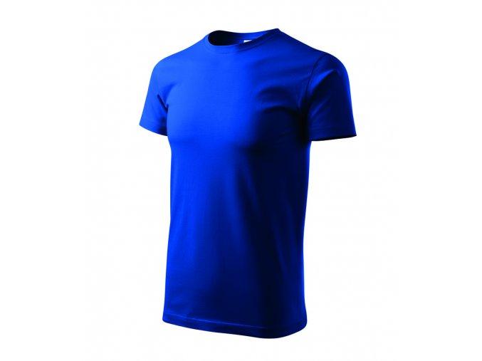 TEESTA triko bavlněné středně modré