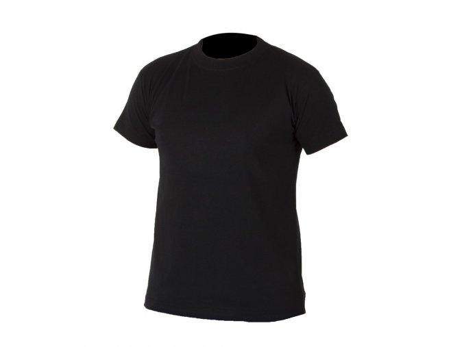 TEESTA triko bavlněné černé