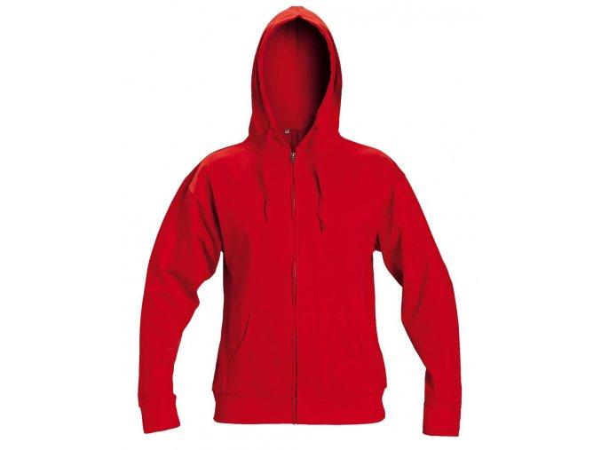 NAGAR mikina s kapucí červená