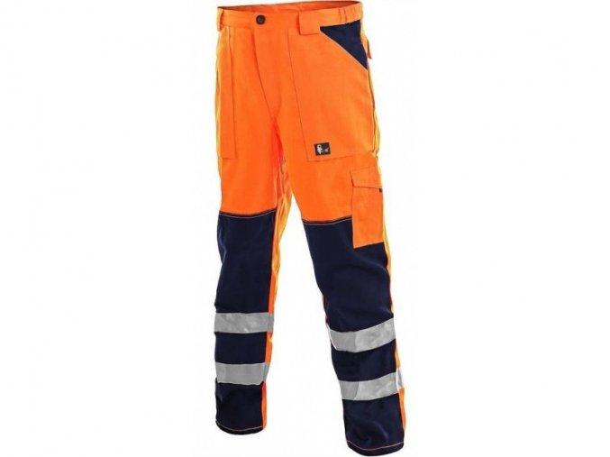 reflexni kalhoty oranžové