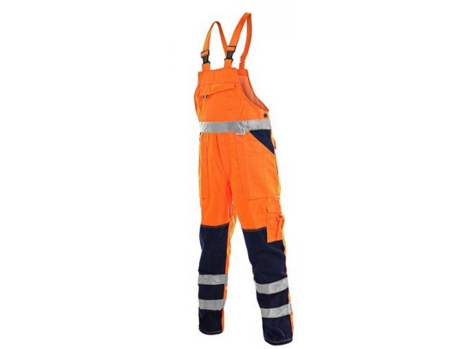 reflexni kalhoty s laclem oranžové