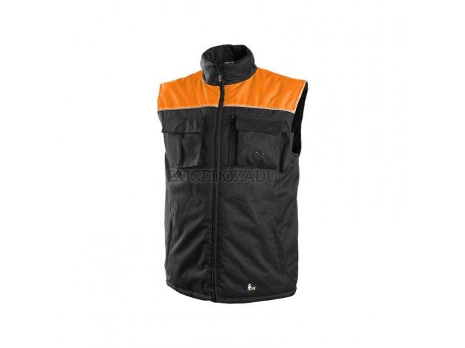 SEATTLE zimní vesta černo-oranžová