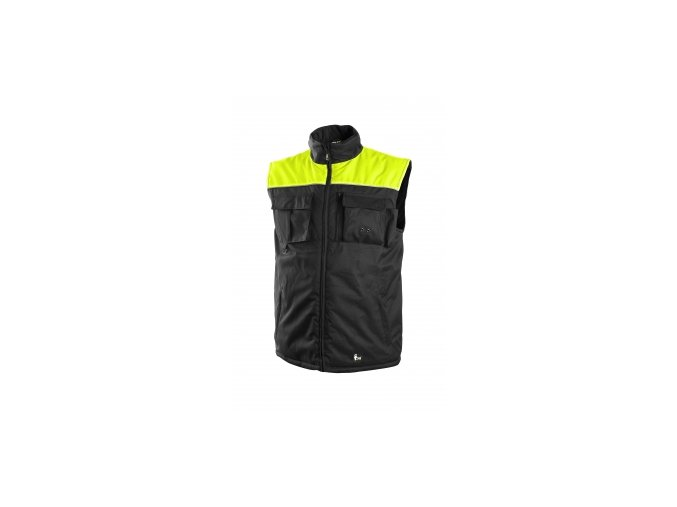 SEATTLE zimní vesta černo-žlutá