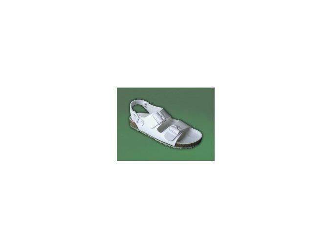 zdravotní sandály bílé