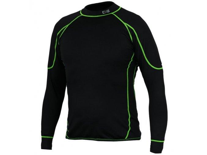 Dětské funkční tričko REWARD, dl. rukáv, černo zelené