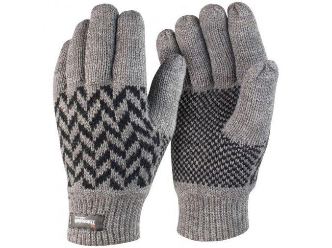 rukavice thinsulate šedé