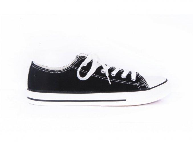 černé plátěné tenisky SG FOOTPRINTS