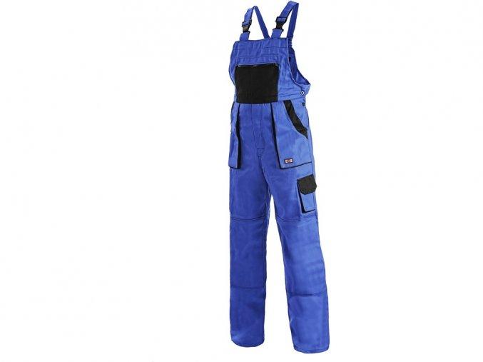 LUX ROBIN kalhoty montérkové s náprsenkou modro/černé