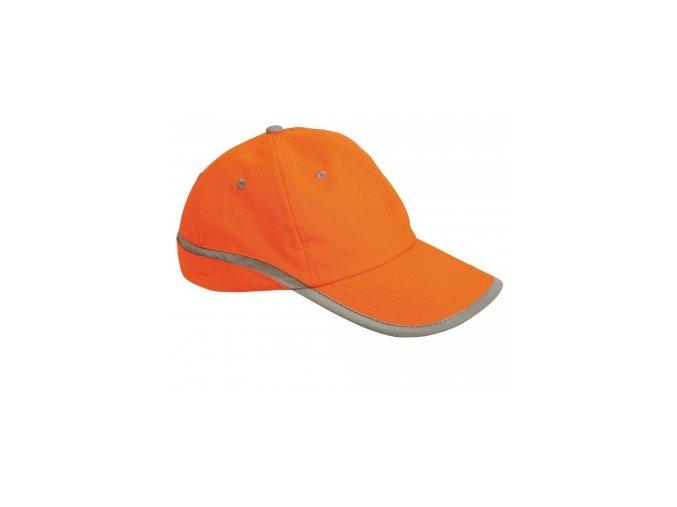 TAHR baseballová čepice reflexní oranžová