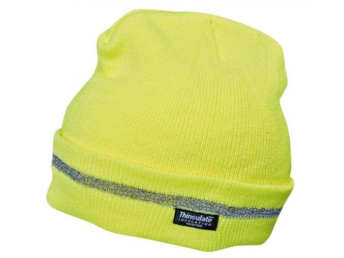 SPARK reflexní čepice žlutá
