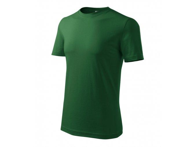 TEESTA triko bavlněné tmavě zelené