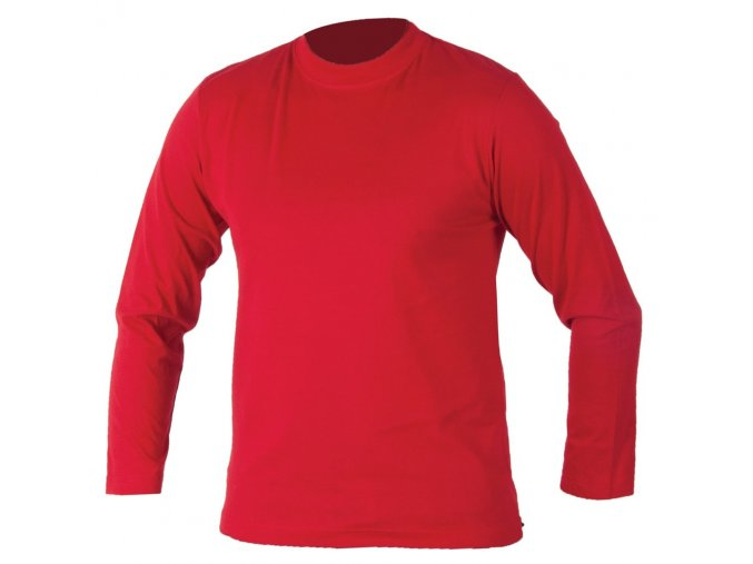 Triko CUBA dlouhý rukáv červené