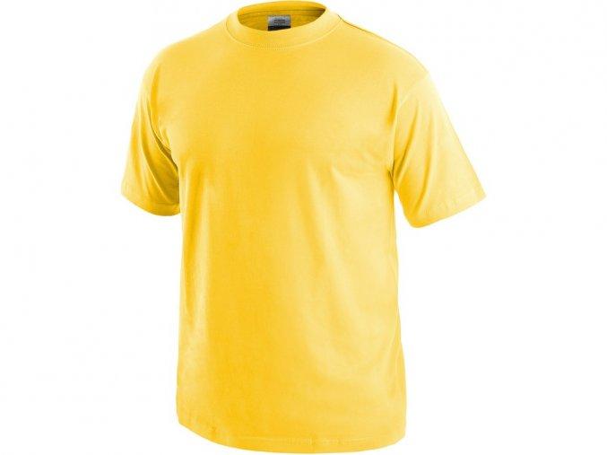 TEESTA triko bavlněné žluté