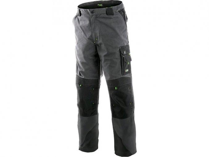 SIRIUS NIKOLAS pánské kalhoty do pasu šedo-zelené