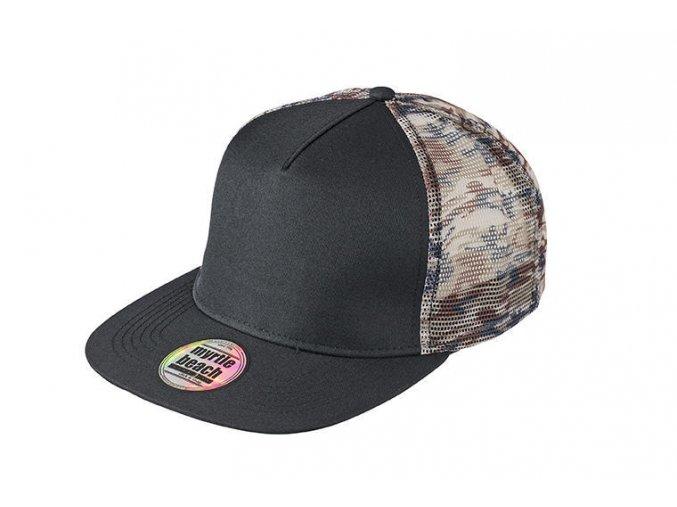 MB6632 síťovaná maskáčová čepice s rovným kšiltem
